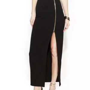 VINCE CAMUTO Front Zipper High slit Skirt large